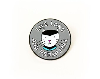Enamel Pin // Live Long and Prospurrr