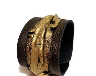 50% OFF SALE 35 Percent OFF Sale Leather cuff bracelet Women cuff Leather jewelry Wristband Casual Elegance collection.