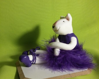 Cute bullerina in violet. Hand made.