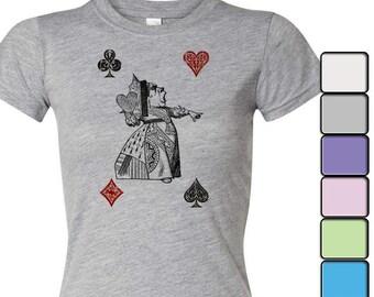 Alice in Wonderland T-shirt, Alice in Wonderland Shirt - Women's Shirt Tee, Alice in Wonderland by Lewis Carroll Shirt, Queen of Hearts