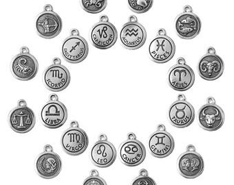 Zodiac Charms - Silver - TierraCast