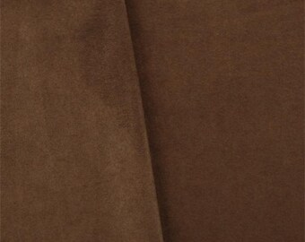 Mahogany Brown Faux Suede, Fabric By The Yard