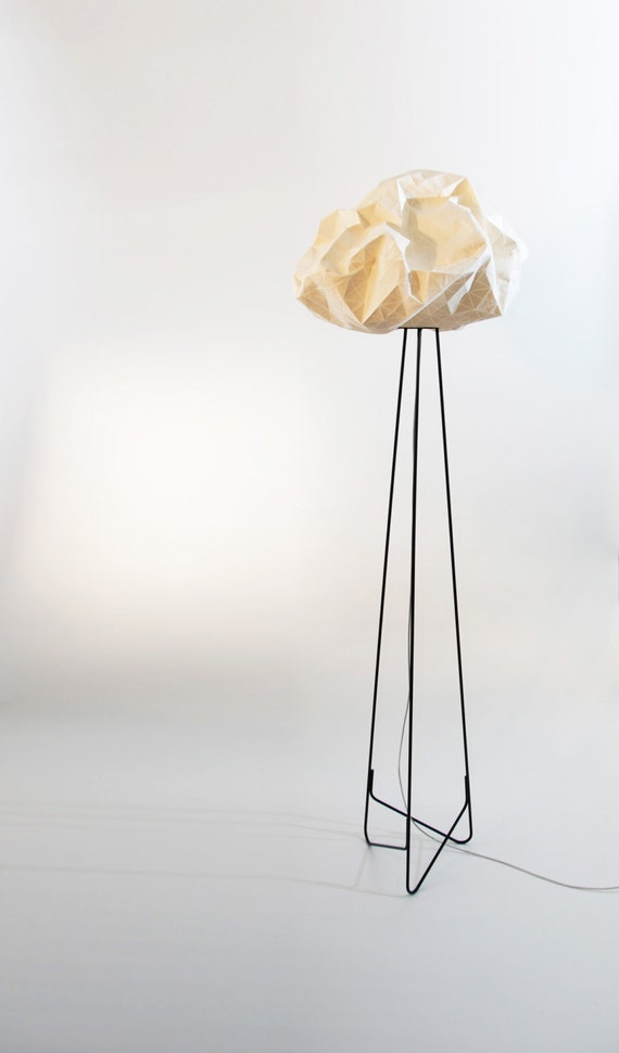Origami Floor Lamp White And Black Lighting Fabric 708X195X195 Inch 180X50X50 Cm Home Decor Accessory