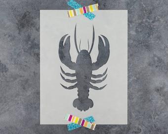 Lobster Stencil - Reusable DIY Craft Stencils of a Lobster