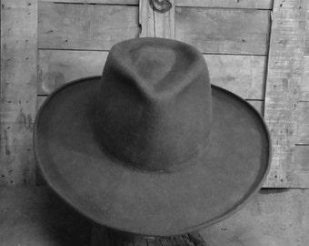 Fedorado, Cowboy Hat, wide brim, Fedora hat, dress hat, western style, Lil Grizz, Hats By Grizz, custom fit, hand blocked, hand shaped