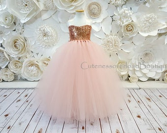 Flower girl dresses etsy blush flower girl tutu dress blush dress blush tutu dress blush bride dress mightylinksfo Image collections