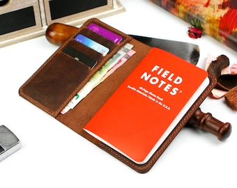 Field Notes Cover, Field notes wallet, Notebook leather cover wallet, Field notes leather cover