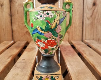 Antique Fukagawa Style Porcelain Vase, Fukagawa Pottery, Antique Japanese Vase, Japanese Porcelain