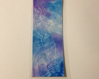 Blue and Purple Laminated Bookmark