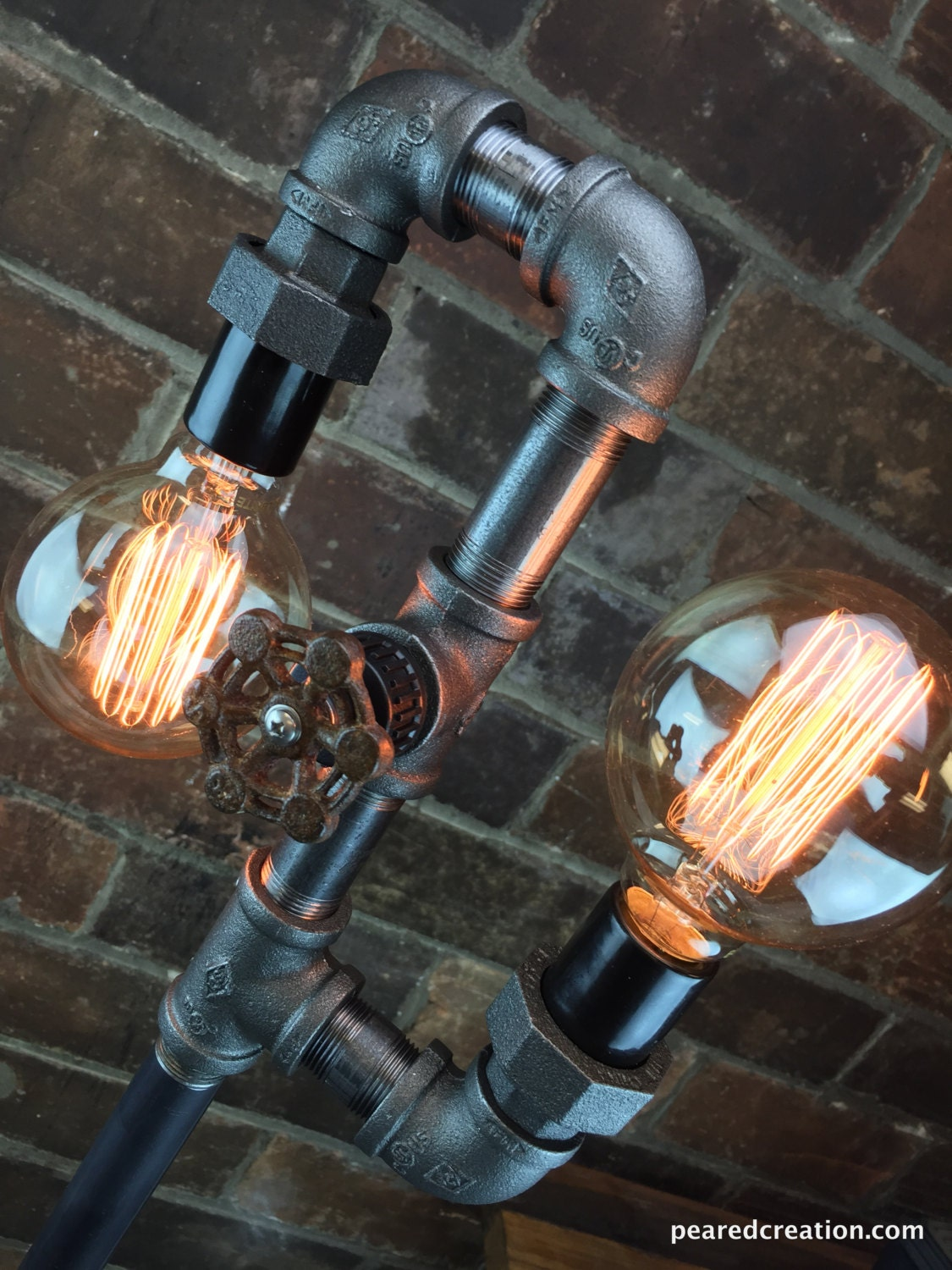 Multi bulb edison floor lamp industrial style bare bulb zoom mozeypictures Images