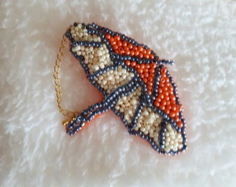 beaded umbrella brooch, accessory for women