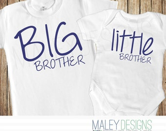 Big Brother Little Brother Set, Matching Brother Outfits, Big Brother Little Brother Shirt, You Choose the Colors!