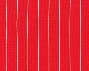 Michael Miller Textured Basics by Patty Young Shoreline Stripe in Red by the Yard