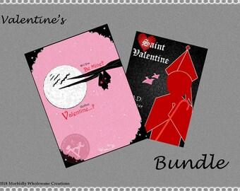 VALENTINES DAY 2-print-bundle; Instant Download -- Digital Art (8x11) .png