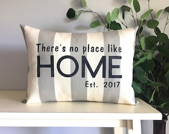 Housewarming Gift, New Home Gift, Wedding Gift, New Homeowners Gift, Custom Monogrammed Pillow, Rustic Home Decor, Christmas Gift