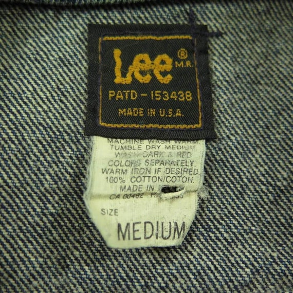 Vintage Washed Out Riders Label H55L 2 Denim M Black 80s 9 Lee Jacket USA Mens rxpfqrC1w