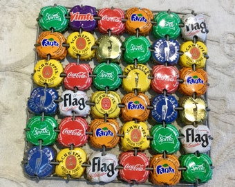 Vintage Bottle Caps Art Collectible heat protective costers.