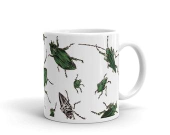 Mug | American Insects | Beetles | Victorian Entomology
