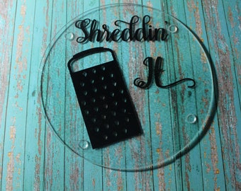 Shreddin' It Glass Cutting Board