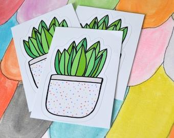 Polka Dotted Fern Sticker