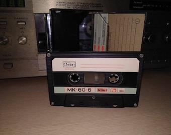 Vintage Audio Cassette by Svema (USSR) MK-60-6 (Свема МК-60-6) 1992 year