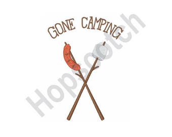 Camping - Machine Embroidery Design