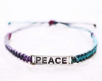Peace Bracelet - Hemp Bracelet - Hemp Jewelry