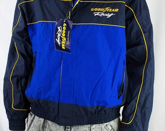 Vintage 90s Goodyear Racing Jacket NWT Deadstock Size L