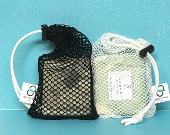 Soap Saver - Soap Pouch - Soap-On-A-Rope - Exfoliator - Nylon Mesh Soap Saver Bag - Soap Saver Pouch