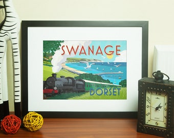Dorset Artwork Print - Swanage - by Jo Parry