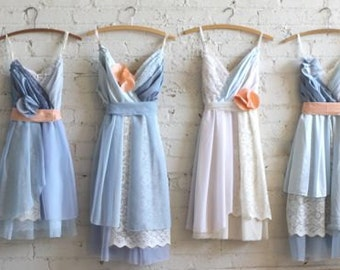 Custom Light Blue Bridesmaids Dresses