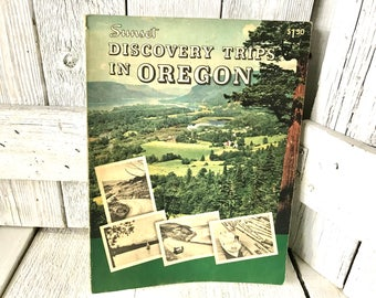 Vintage travel book Sunset Discovery Trips in Oregon 1957/ free shipping US