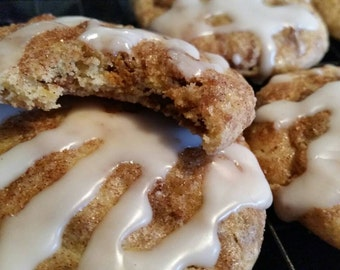 Homemade Cinnamon Bun Cookies - 36 Cookies