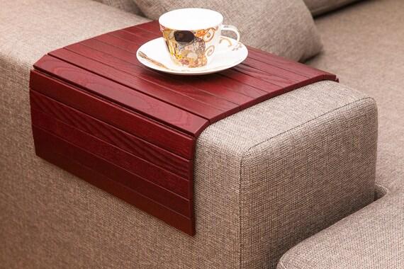 sofa tablett tischwein rot holz tisch laptop fach. Black Bedroom Furniture Sets. Home Design Ideas