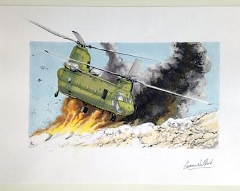 Chinook. Original ink and marker illustration.