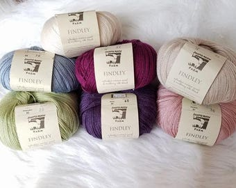 Juniper Moon Findley, merino wool and mulberry silk blend, lace weight
