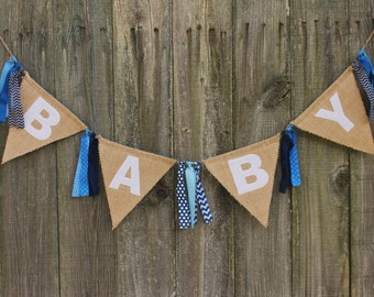 Baby Shower Banner, Burlap Baby Banner, Custom Baby Banner for Baby Shower or Welcome Party, Baby Banner Photo Prop