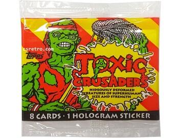 Toxic Crusaders Cards 1991 Troma Toxic Avenger vintage retro Wax pack