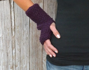 KNITTING PATTERN - The Serenity Fingerless Gloves Pattern - Knit Fingerless Mitts Pattern - Texting Gloves Knit Pattern - Winter Accessory