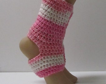 Cotton Crochet Yoga Dance Pilates Socks ~Size 6-8~