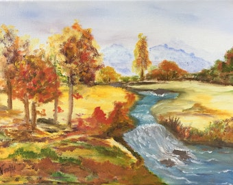 Small landscape in oil original painting