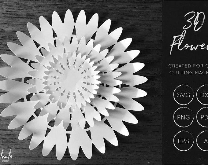 Layered Flower SVG 7