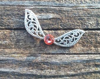 Pink Swarovski Crystal -Fairy Wings - Legend of Zelda Inspired - Harry Potter Inspired - Bracelet/Anklet/Necklace