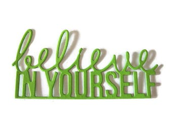 Believe in Yourself Die Cut Set of 12
