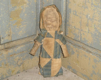 Old Quilt Doll | Handsewn Doll | Primitive Doll  | Small Cloth Doll | Shelf Sitter | Cupboard Tuck