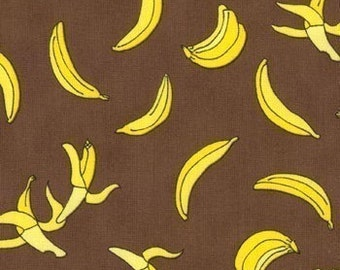 Sock Monkey fabric | Brown Banana | Quilting Cotton fabric