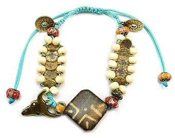 Boho bracelet, Bohemian bracelet, Boho jewelry, Bohemian jewelry, Hippie bracelet, Beaded bracelet, Bracelet for woman, Gift for her