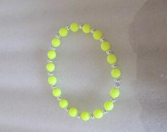Bracelet yellow beads for girl