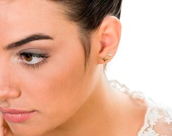 Tiny Silver Earrings, Stud Earring Set, Small Stud Silver Earrings, Tiny Earring, Boho Earrings, Bird Earrings, Small Stud, Set of 3 Earring