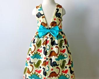 Dinosaur Dress, Girls and Toddler Dinosaur Dress, Science Dress, Dinosaur Birthday Party, Girls Dinosaur Party, Natural History Dress